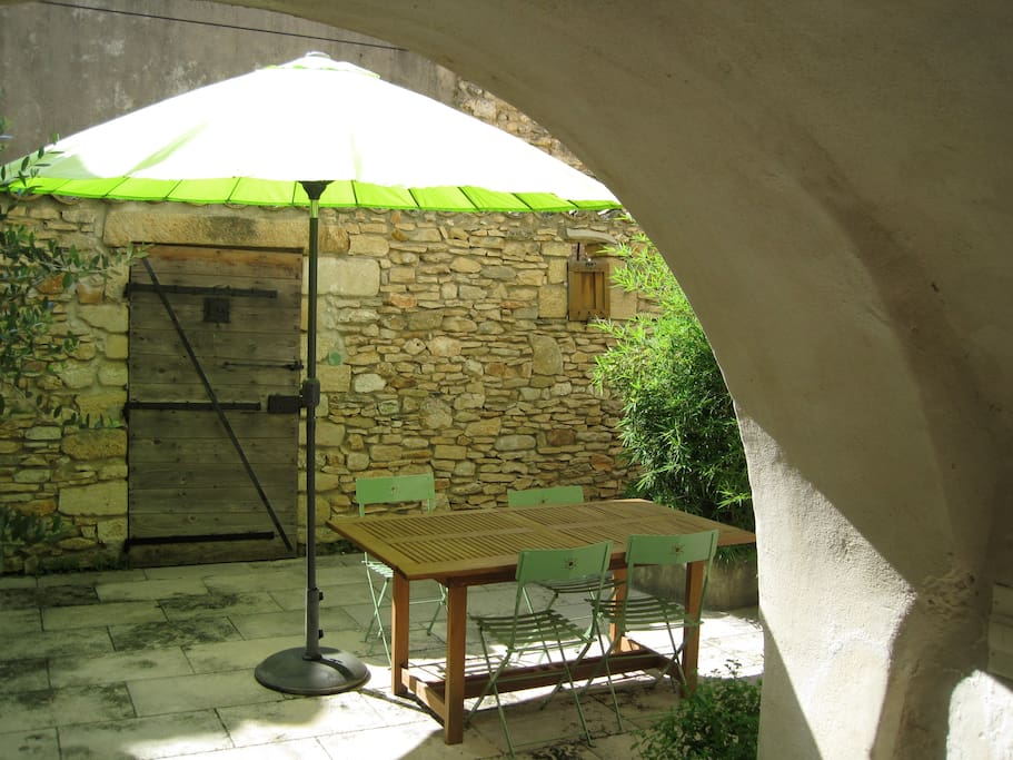 Courtyard from the shaded cave