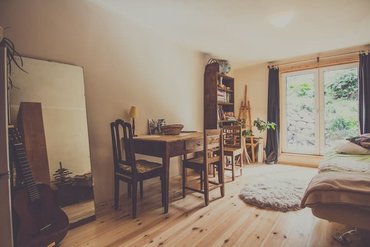 Cosy central studio with garden - Tartu - Departamento