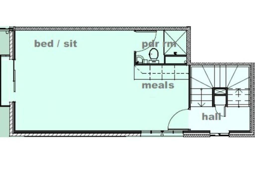 Floor plan of the Studio