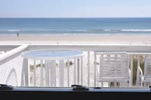 This is the view out of the ocean-side bedroom in unit 3 our 2/1