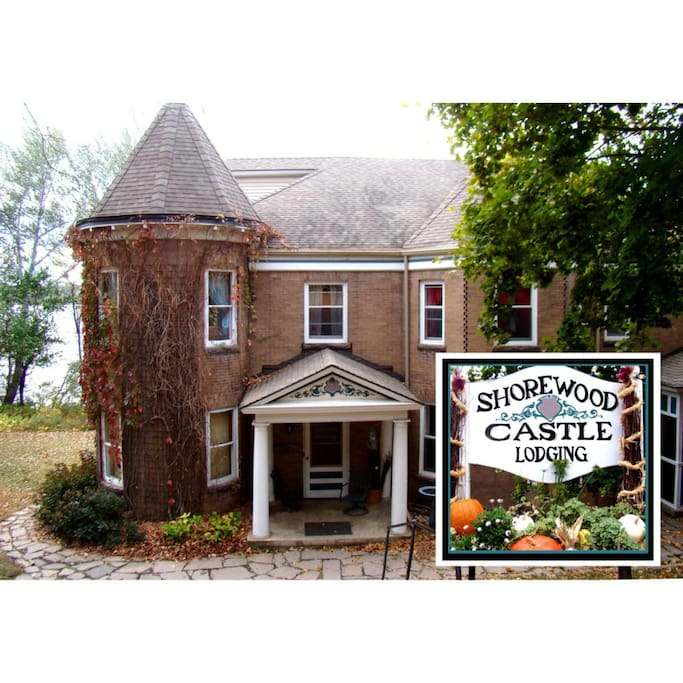 Shorewood Castle was & is a family home located in a pastoral setting of thickly wooded hills and above Big Stone Lake.