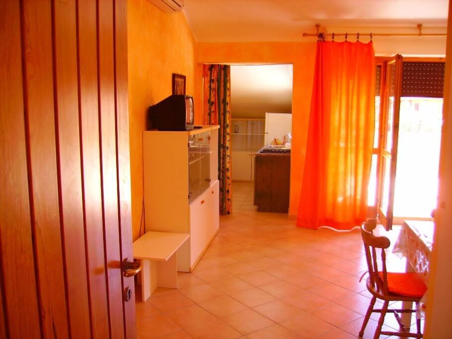 Vista Sala e cucina