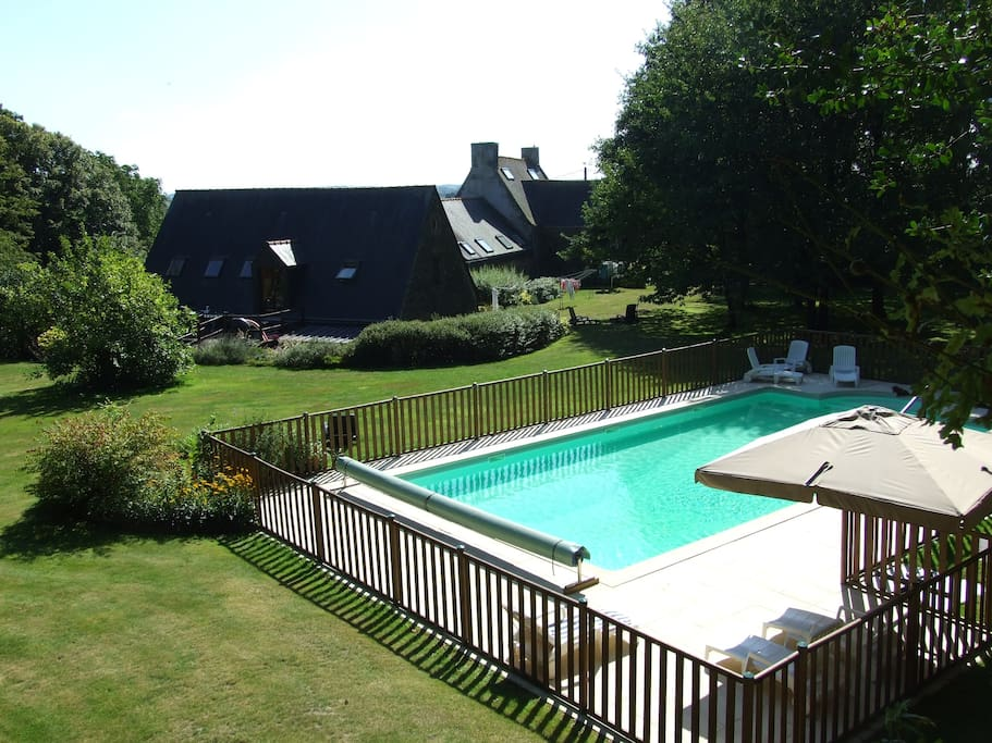 Securely fenced heated pool 12 x 6 m