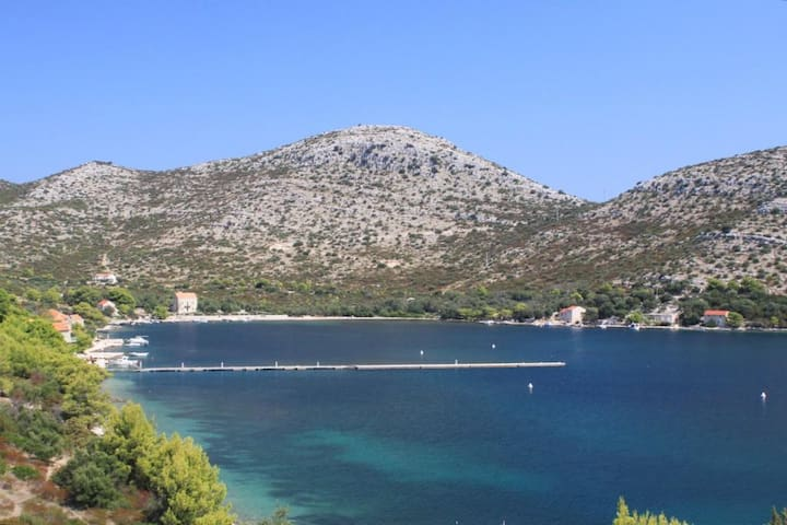 Studio flat with terrace and sea view Skrivena Luka, Lastovo (AS-8280-a)