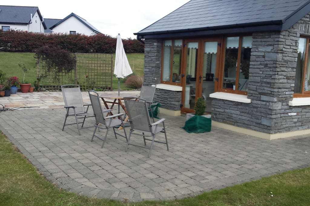 Lovely outdoor area for relaxing on summer evenings