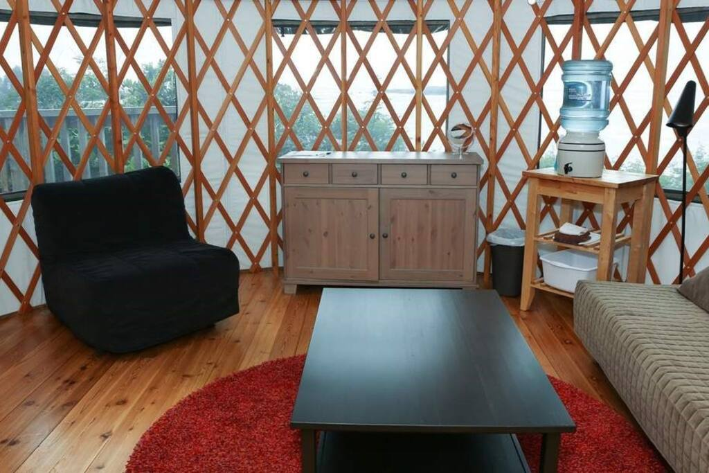 These yurts have charming interiors which makes for a luxury camping experience