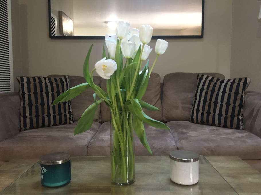 Fresh flowers upon arrival. We wouldn't have it any other way