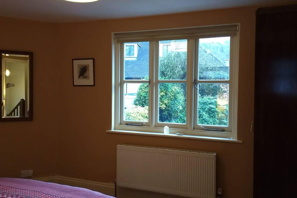 Bedroom window, garden view