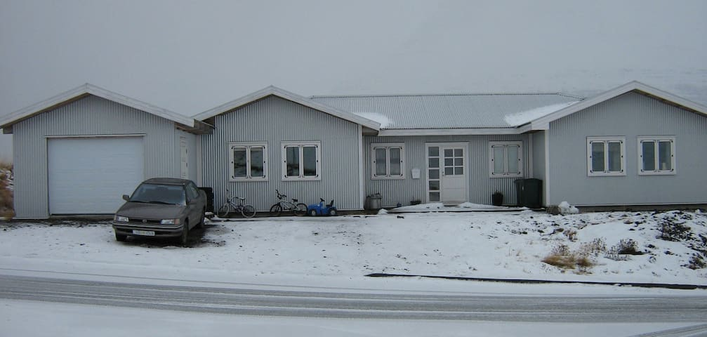 Our house at wintertime.