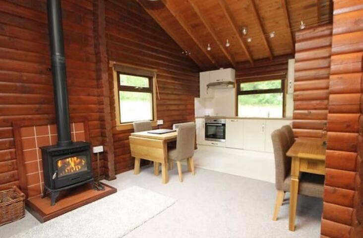 Living room/kitchen from open plan lounge. Dishwasher/washing machine etc