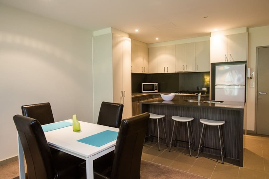Spacious open plan kitchen, dining and lounge
