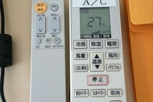 Remote for A/C and ceiling light