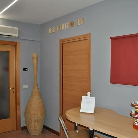 """B&B Civico2 (Website hidden by Airbnb) Camera letto """"Lunedi'"""""""