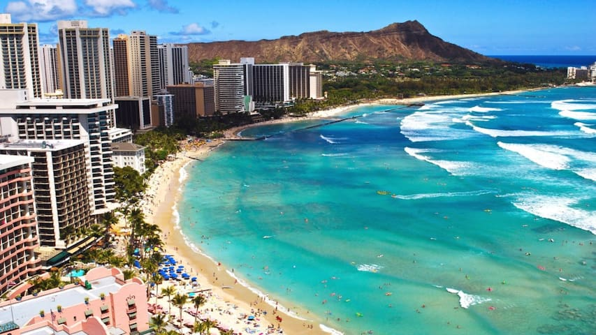 Stay at Waikiki Beach in beautiful Hawaii!