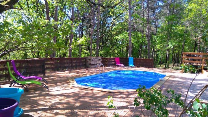 Mobil home 2 climatisé piscine chauffée à Cahors