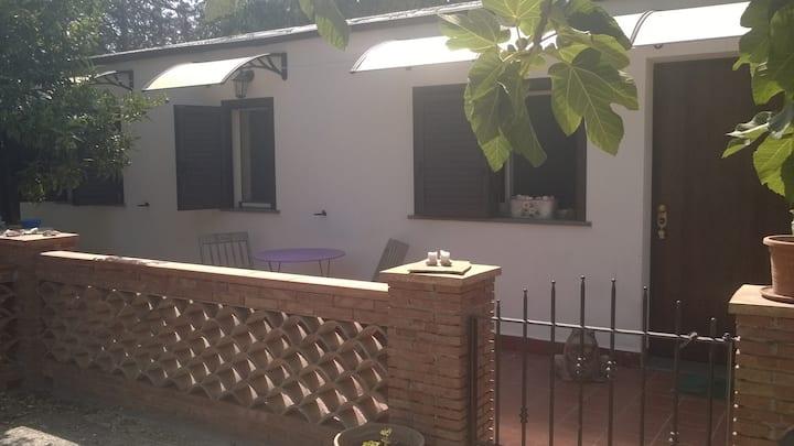 Accogliente  bungalow con giardino