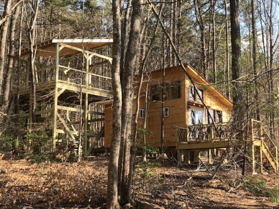 Treehouse from the woods