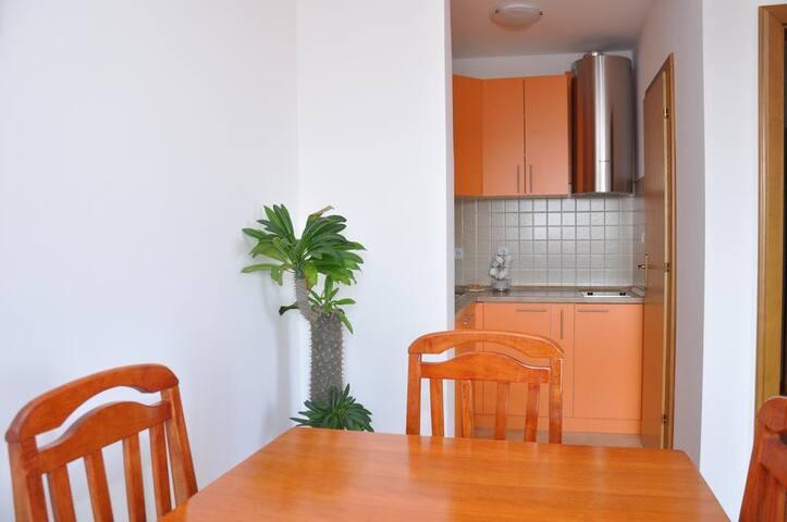 new, sunny apartment