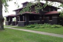 Exterior of the J.B. McHose house - East Unit.