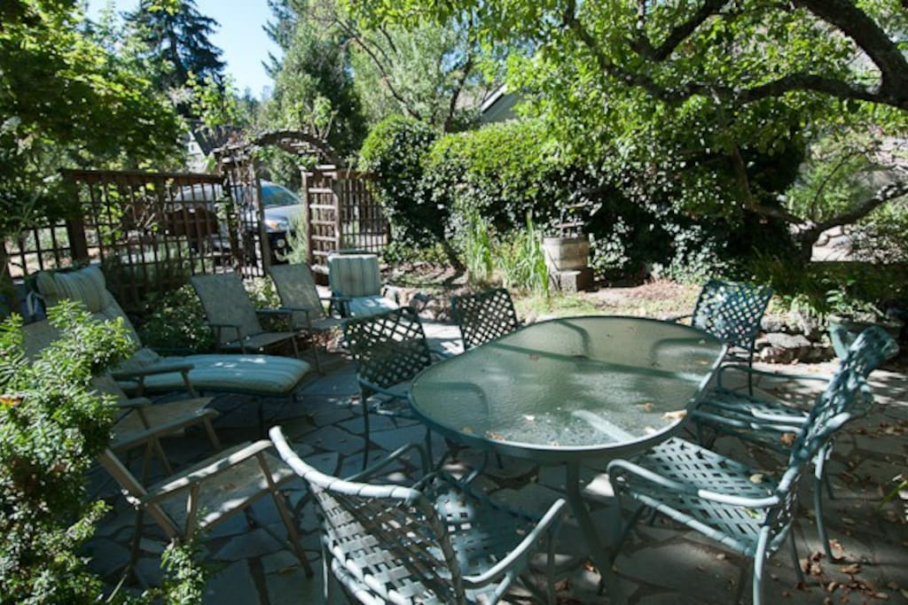 Peaceful garden/patio for your enjoyment.