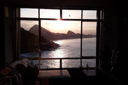 Bedroom in an apartment with a great view of Rio!