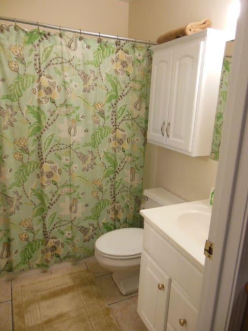 Tub/shower combination.