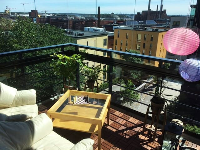 3 rooms with panorama view central Helsinki