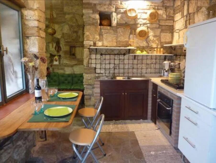 il soggiorno cucina