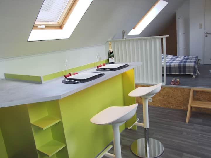 Studio neuf 33 m2 agréable à vivre côté campagne.