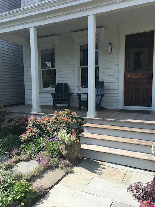 You may use our front door and porch as yours during your stay