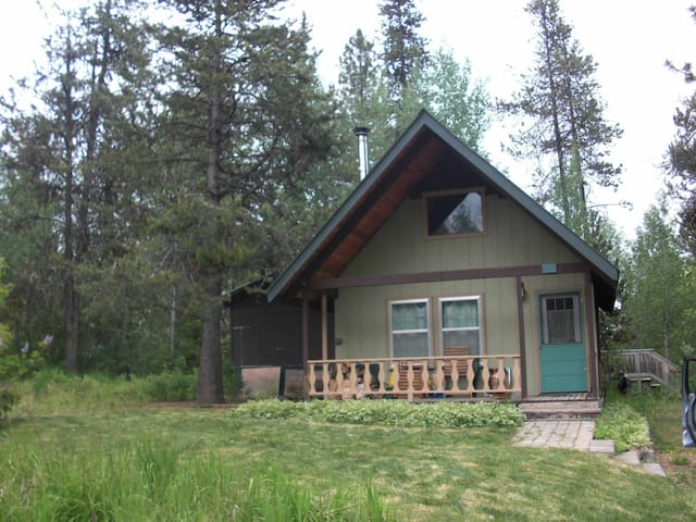 Cabin in woods, town & peace, 2bd+sleeping loft