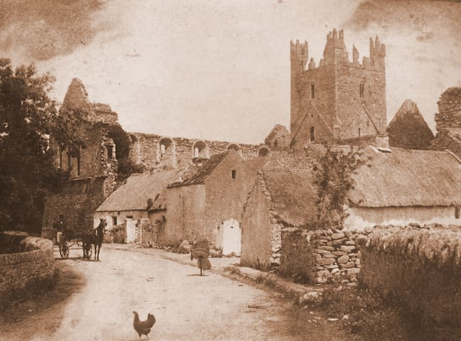 An old photograph of Jerpoint Abbey
