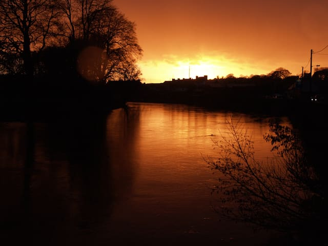 Sunset on the River Nore in Thomastown.