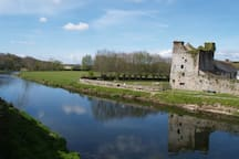 Mullins Castle Thomastown on River Nore, one mile away