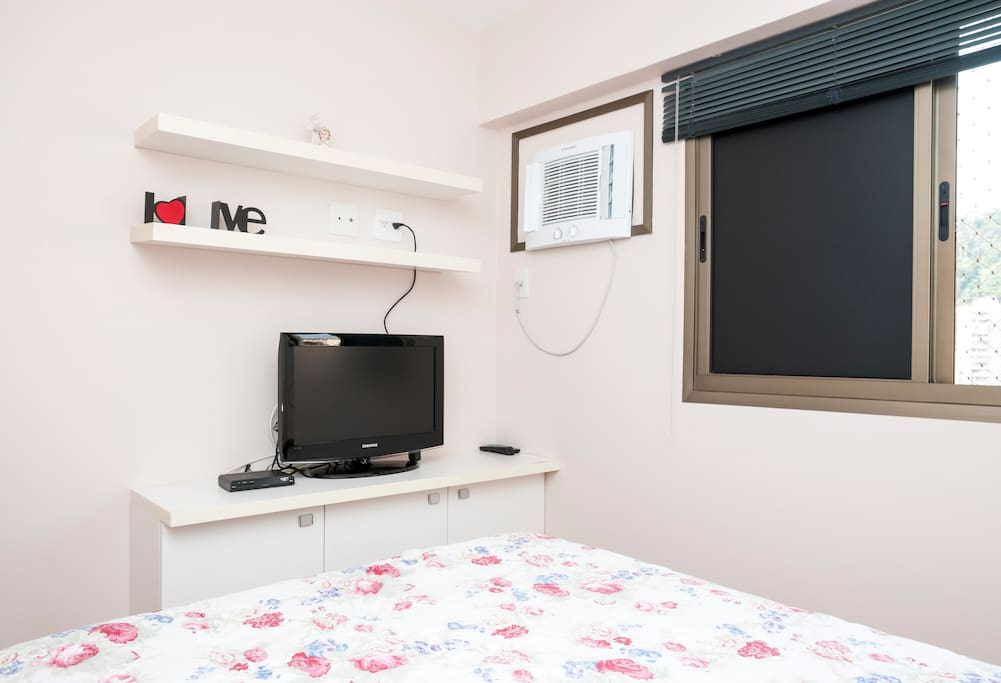 LCD Satellite TV on the bedroom