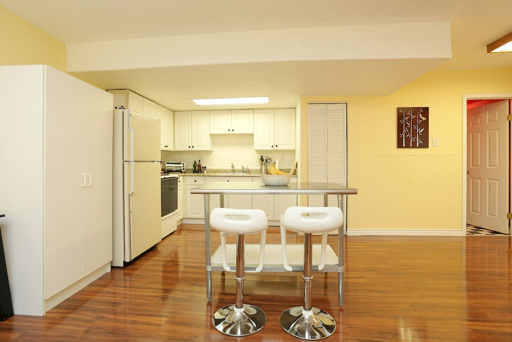 Full-sized kitchen.