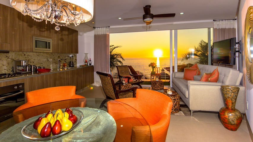 Wow sunset like no where on the planet right in you main living space.