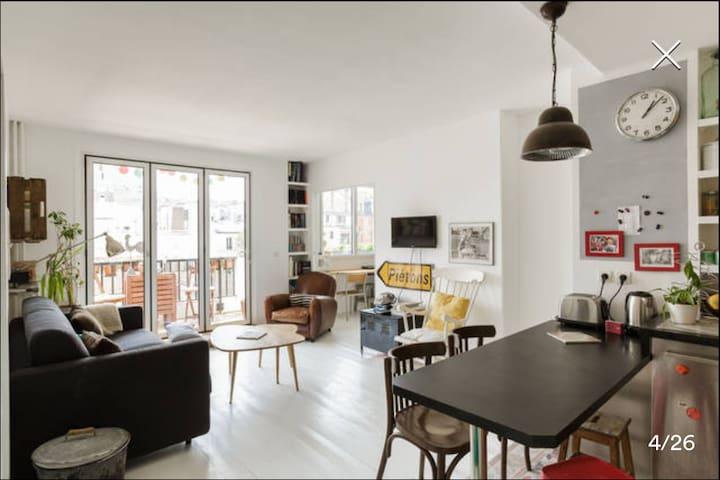 Sunny appartment in Paris - Paris - Daire