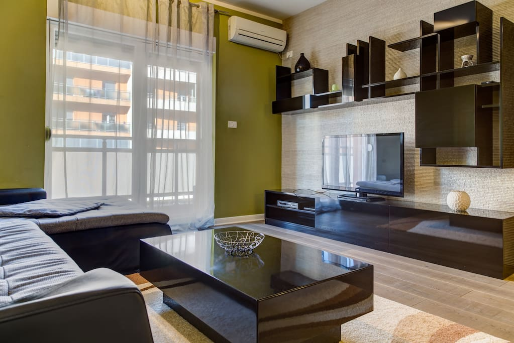 Forest City Apartment Living Room with all Amenities located in Modern Area of Capital City