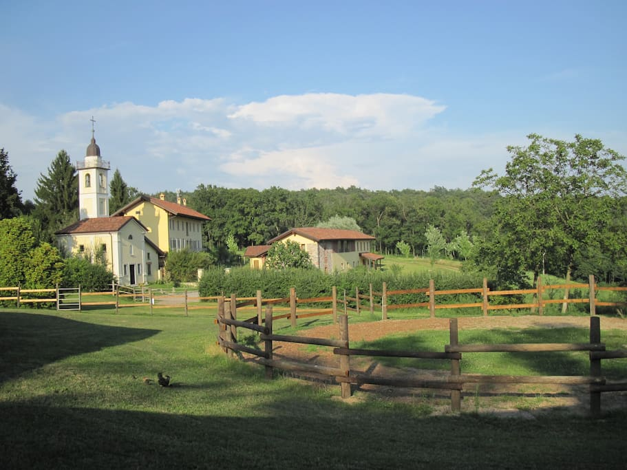 Cascina Incocco as seen from Horse stables.