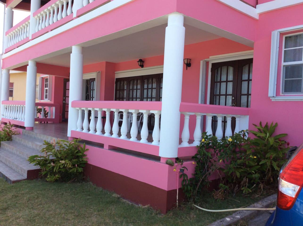 Front verandah of apartment
