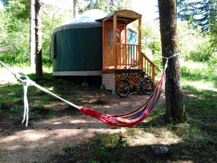Osprey Yurt at Vernonia Springs