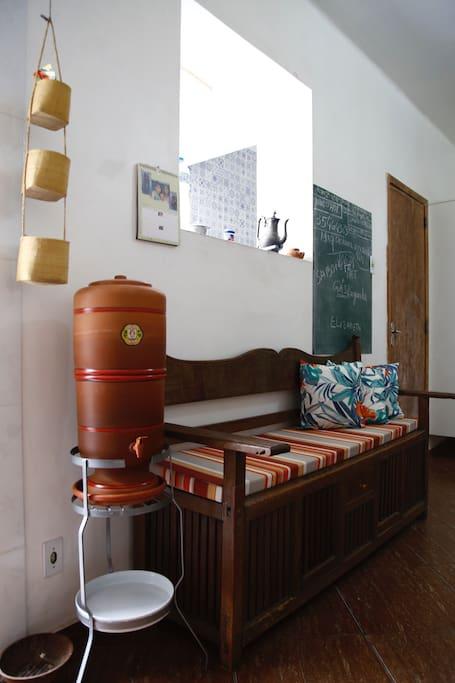 Agua de filtro brasileiro.Considerado o mais eficiente do mundo
