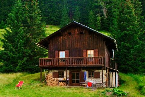 Charming old  chalet in the middle of Dolomites