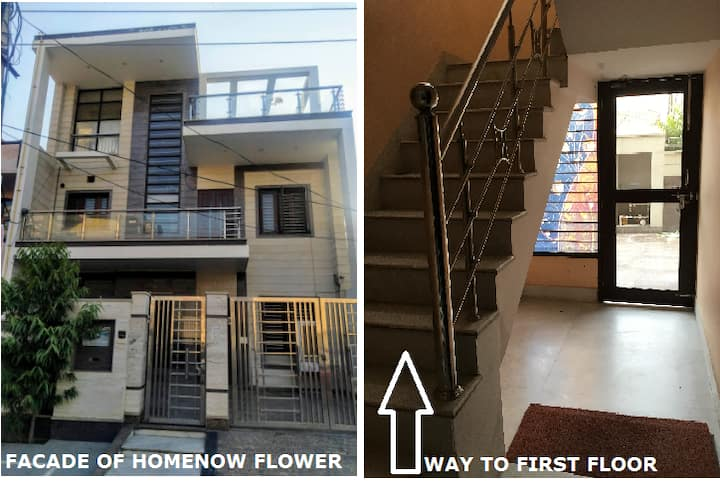 Flower | Entire 2 Bedrooms near Sec 15A Faridabad