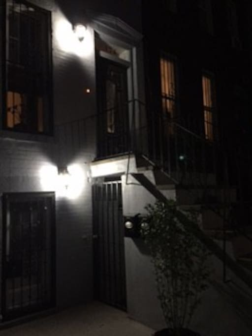 Garden apartment entrance