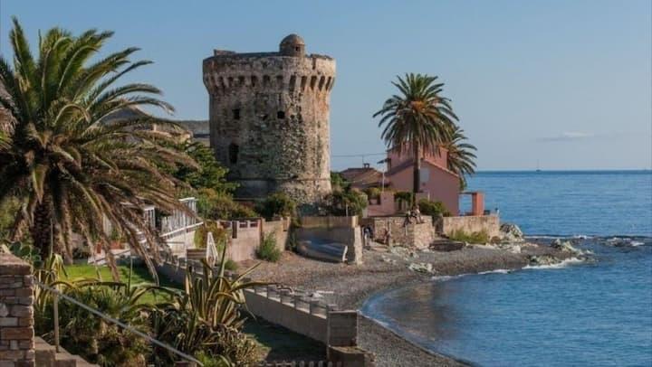Cap Corse rez de villa à 2 km de la plage de Miomo