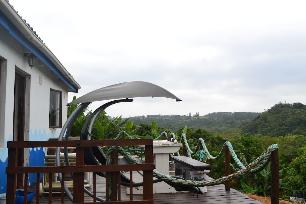 Large outdoor deck with stunning views over the natural mangrove forest