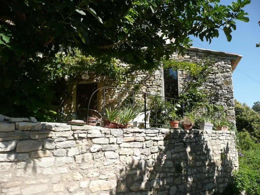 vue extérieur sur la maison