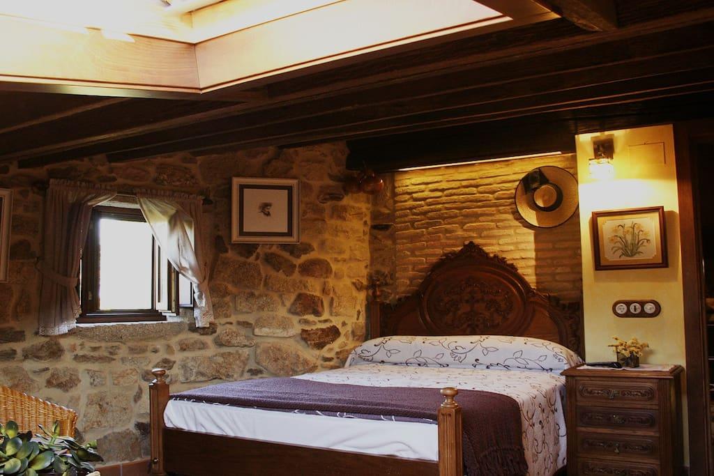 Decoración de estilo rural en todas las habitaciones.